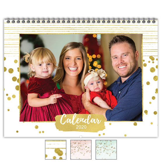 Painted Metallic Focus in Pix Calendar