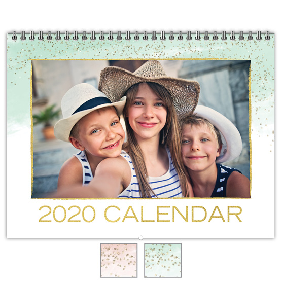 Focus in Pix 'Watercolor Metallics' Calendar