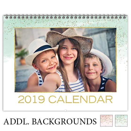 Focus in Pix 'Watercolor Metallics' Calendar