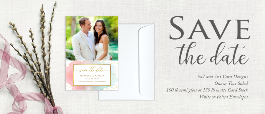 Focus in Pix Save the Date Wedding Marriage Announcement
