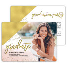 Abstract Angles - Focus in Pix Graduation Party Invitation or Announcement