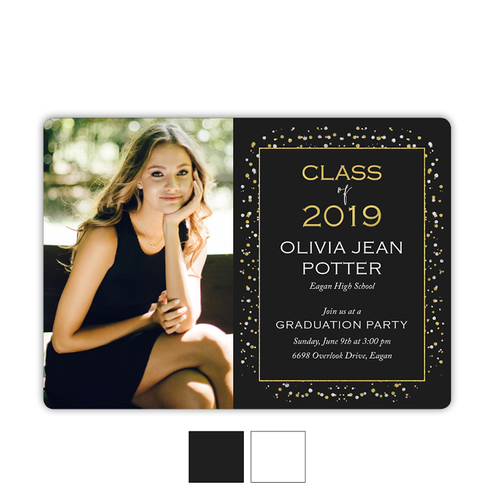 Metallic Mist - Focus in Pix Graduation Party Invitation or Announcement