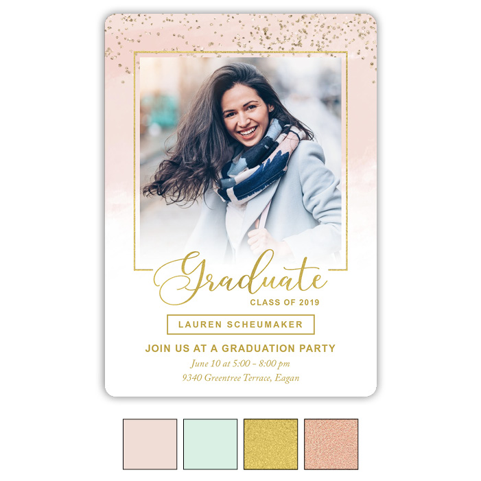 Paint and Glitter - Focus in Pix Graduation Card