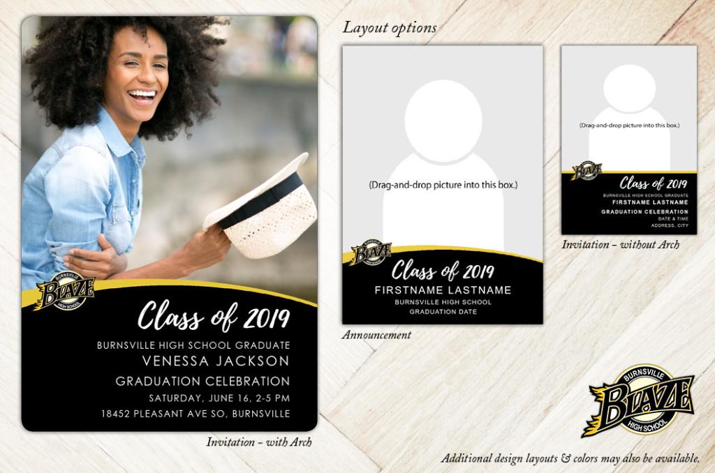 School Spirit, Burnsville High School - Focus in Pix Graduation Party Invitation or Announcement