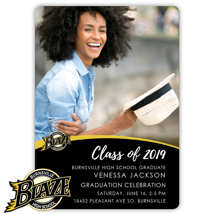 School Spirit, Burnsville High School - Focus in Pix Graduation Party Invitation or Announcement