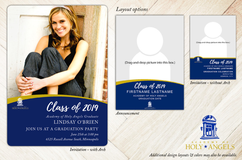 School Spirit, Academy of Holy Angels - Focus in Pix Graduation Party Invitation or Announcement