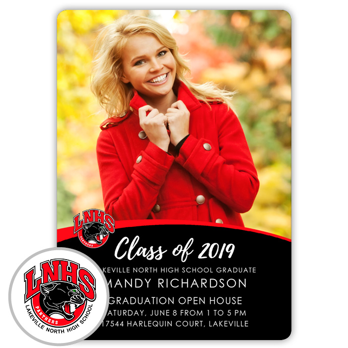 School Spirit, Lakeville North High School - Focus in Pix Graduation Party Invitation or Announcement