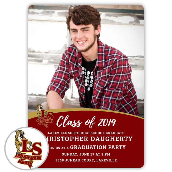 School Spirit, Lakeville South High School - Focus in Pix Graduation Party Invitation or Announcement