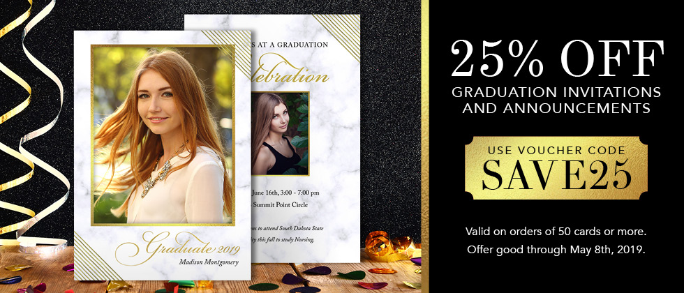 25% Off Graduation Invitations and Announcements