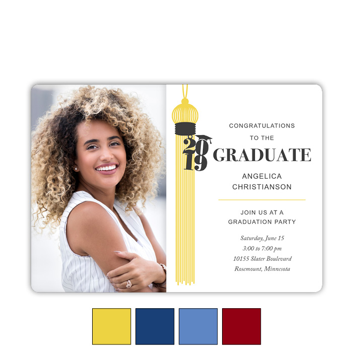 Grand Tassel - Focus in Pix Graduation Card
