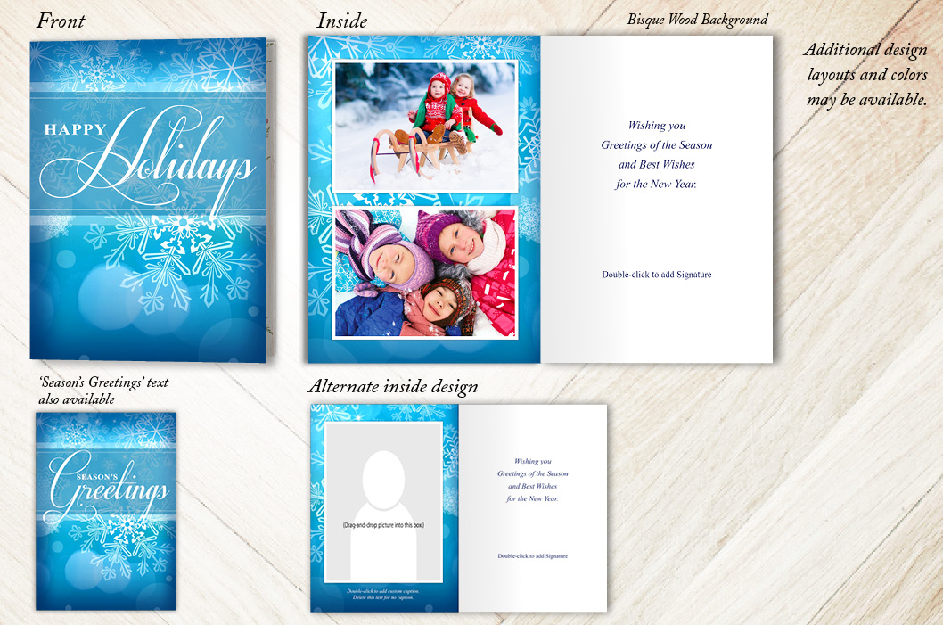 Abstract Snowflakes Holiday Christmas Card
