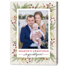 Branches and Berries 5x7 Fold Holiday Christmas Card
