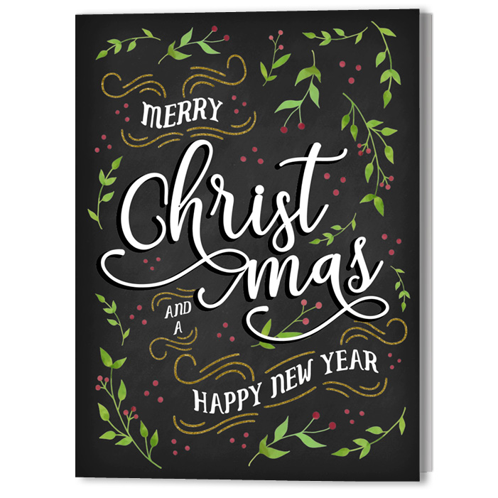 'Joyful Holiday' Holiday Christmas Card