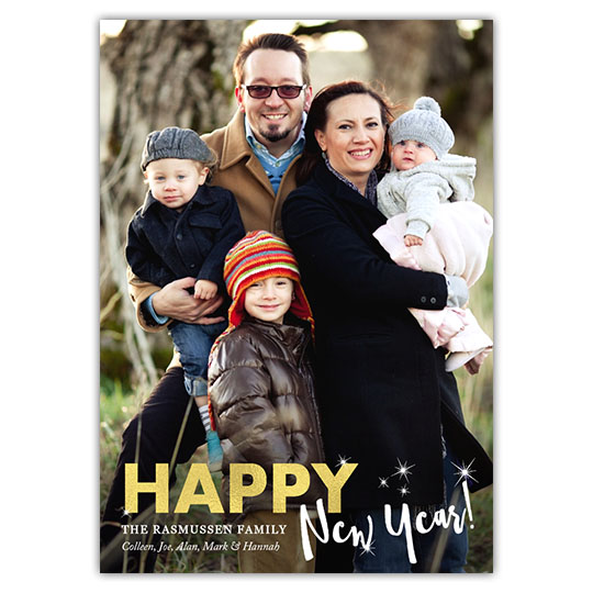 New Year Stars, Holiday Christmas Card