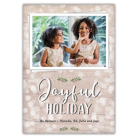 'Joyful Bokeh' Holiday Christmas Card