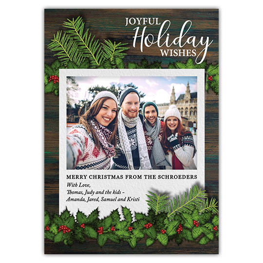 Joyful Holiday Holiday Christmas Card