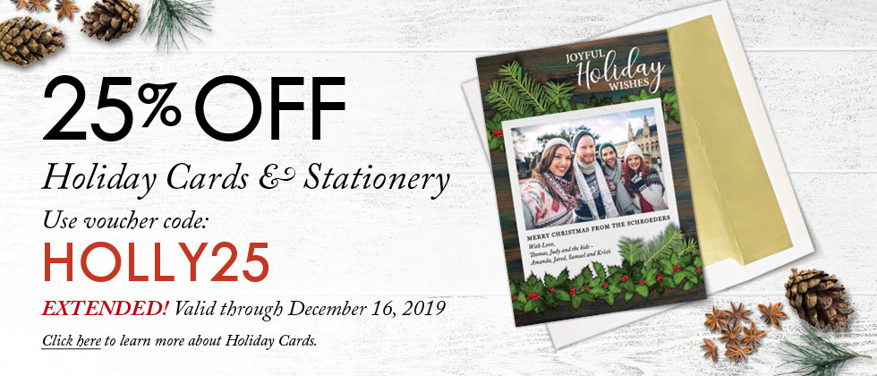 Focus in Pix Cyber Week Sale - 25% Off Holiday Cards through December 16th!